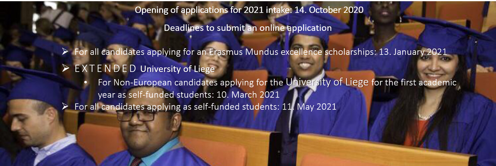 Applications for 2021 Intake
